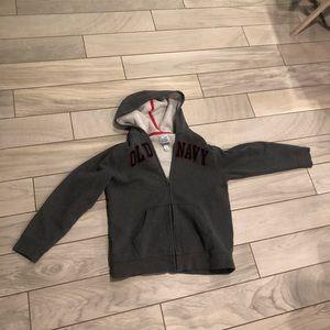 Old navy boys large gray zip up sweatshirt